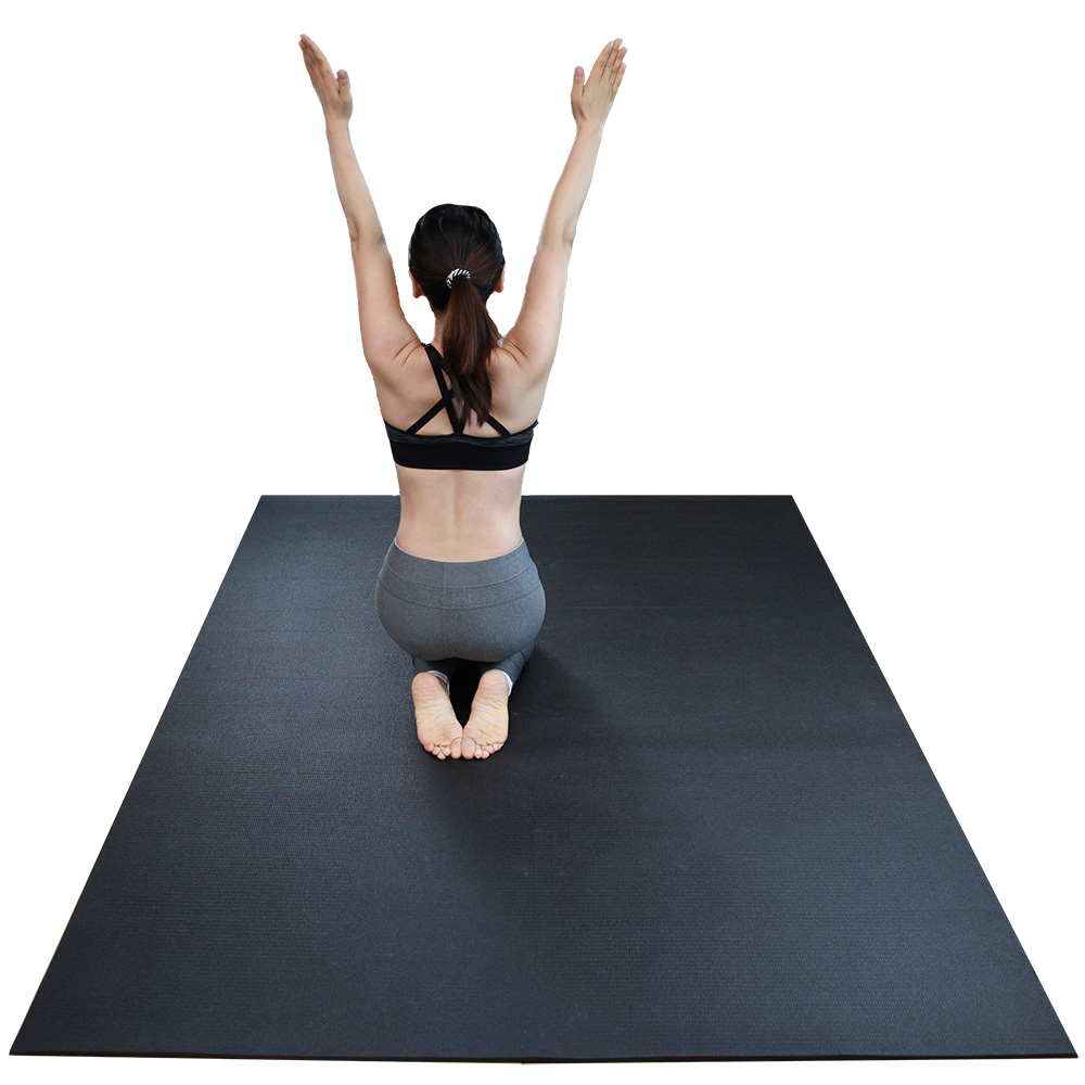 Workout Mat 5 Below: RevTime Extra Large Exercise Mat 5' X 7'6mm