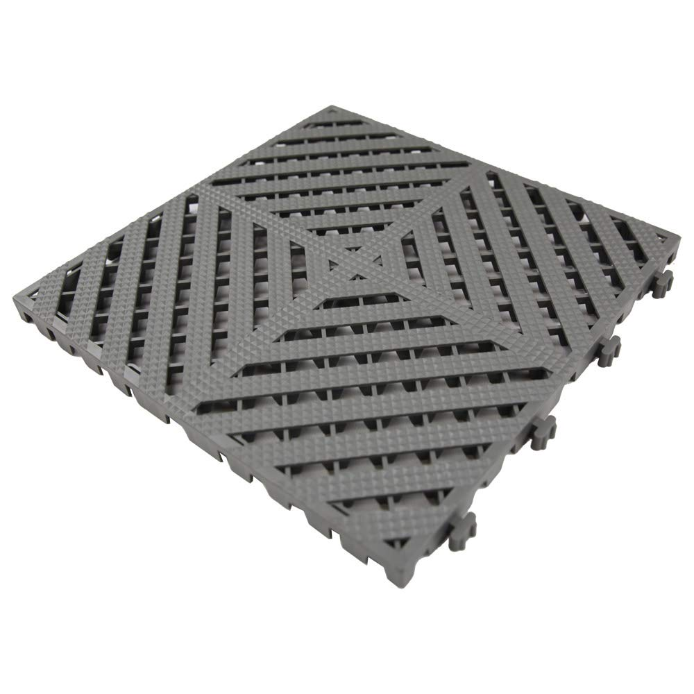 Modular Split Level Deck: RevTime Modular Interlocking Deck Tile 13″x13″x3/4″, Deck