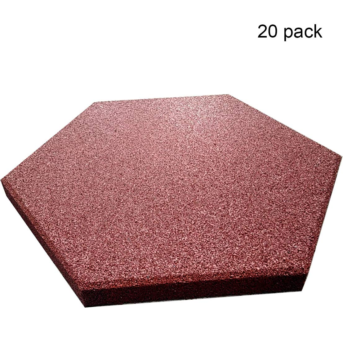 Revtime Hexagon Rubber Pavers 10 1 2 3 4 Pack Of 20 Red Revtime